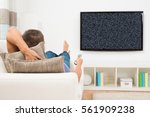 man with remote control... | Shutterstock . vector #561909238