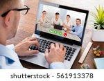 business person... | Shutterstock . vector #561913378