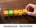 close up of a mathematical... | Shutterstock . vector #561913504