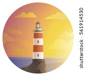 Vector Lighthouse With...