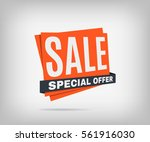 sale banner on a gray... | Shutterstock .eps vector #561916030
