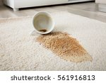 close up of coffee spilling... | Shutterstock . vector #561916813