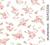 Seamless Floral Background Wit...