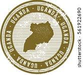 vintage uganda african country... | Shutterstock .eps vector #561922690