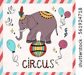 circus elements coloring set... | Shutterstock .eps vector #561924718