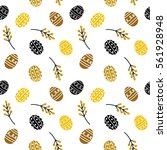 vector seamless pattern with ... | Shutterstock .eps vector #561928948