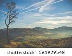 windswept landscape in scotland ... | Shutterstock . vector #561929548