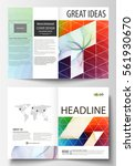 business templates for bi fold... | Shutterstock .eps vector #561930670