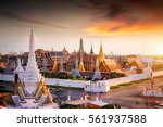 grand palace at twilight in... | Shutterstock . vector #561937588