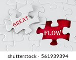white puzzle with void in the...   Shutterstock . vector #561939394