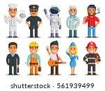 pixel art characters set ... | Shutterstock .eps vector #561939499
