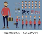 creation set of hipster... | Shutterstock .eps vector #561939994