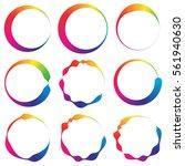 irregular lined circles. vector ... | Shutterstock .eps vector #561940630