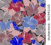 textile print for bed linen ... | Shutterstock . vector #561941110