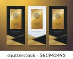 vector set packaging templates... | Shutterstock .eps vector #561942493