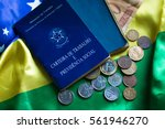 brazilian document work and... | Shutterstock . vector #561946270