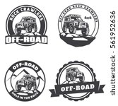 set of off road suv car round... | Shutterstock .eps vector #561952636