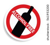 alcohol free sign on white...