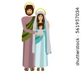 picture of sacred family... | Shutterstock .eps vector #561957034