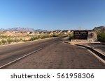 entrance sign  big bend... | Shutterstock . vector #561958306