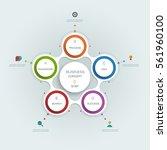 vector infographics templates... | Shutterstock .eps vector #561960100
