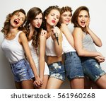 group of  beautiful stylish... | Shutterstock . vector #561960268