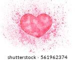 beautiful hand drawn watercolor ... | Shutterstock . vector #561962374