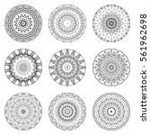 vector mandala patterns set.... | Shutterstock .eps vector #561962698
