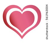 hearts love emotion romantic... | Shutterstock .eps vector #561963004