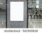billboard banner signage mock... | Shutterstock . vector #561965818