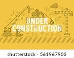 under construction web page... | Shutterstock .eps vector #561967903
