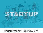 startup web page banner concept ... | Shutterstock .eps vector #561967924