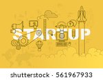 startup web page banner concept ... | Shutterstock .eps vector #561967933