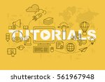 tutorials web page banner... | Shutterstock .eps vector #561967948
