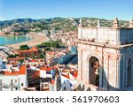 spain. valencia   peniscola.... | Shutterstock . vector #561970603