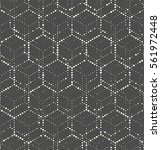 seamless hexagon monochrome... | Shutterstock .eps vector #561972448
