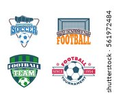 soccer sign vector set. | Shutterstock .eps vector #561972484