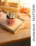 cup cake  sweet desert with... | Shutterstock . vector #561972940