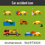 various situations of car... | Shutterstock .eps vector #561973324