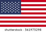 vector image of american flag | Shutterstock .eps vector #561975298