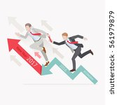 business growth concepts. two... | Shutterstock .eps vector #561979879