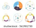 business infographics. elements ... | Shutterstock .eps vector #561981730
