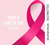 world cancer day. february 4.... | Shutterstock .eps vector #561985753