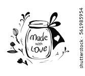 vector valentines day hand... | Shutterstock .eps vector #561985954