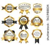 luxury premium golden labels... | Shutterstock .eps vector #561988834