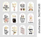 valentine s day callygraphic... | Shutterstock .eps vector #561991630