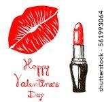 greeting card. happy valentine... | Shutterstock .eps vector #561993064