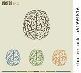 brain icon   Shutterstock .eps vector #561994816