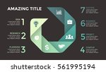 vector circle arrows... | Shutterstock .eps vector #561995194
