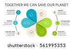 vector circle arrows green... | Shutterstock .eps vector #561995353